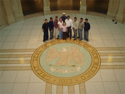 Air Duct Cleaning Featuring Family and Crew at the New Mexico Crest in the Capitol Building